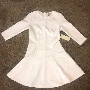 F21 above the knee, short cream, size small dress